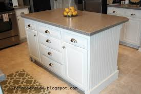 how to build a kitchen island with cabinets on the v side diy kitchen island update