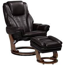 augusta java faux leather recliner chair with ottoman 23t47