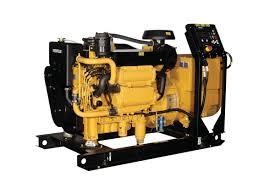 toromont cat c6 6 acert marine generator set