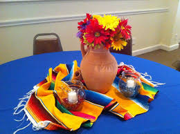 themed table decorations mexican centerpieces the posh pixie mexican party table