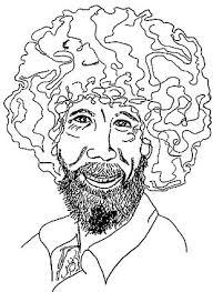 drawing of bob hair drawing bob ross not shallow