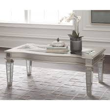 Ashley Furniture End Tables Ashley Furniture Tessani Rectangular Cocktail Table In Silver
