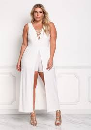 plus size white rompers and jumpsuits plus size clothing deb shops