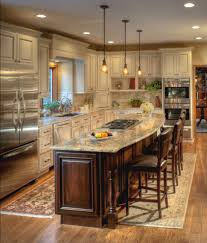 Cream Kitchen Cabinets With Glaze Cream Colored Kitchen Cabinets With Dark Island Kitchen Decoration
