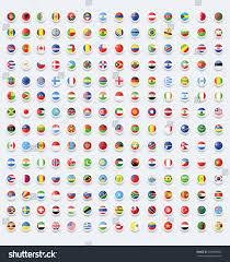 Conutry Flags Rounded Flags Button Country Flags Stock Vektorgrafik 728989306
