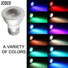 Led Light Bulbs Sale by Multi Color Change Rgb Led Light Bulb Lamp Sale Today U2013 Golden