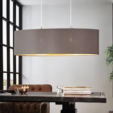 Fabric Pendant Light by Eglo 31614 Maserlo Oval Cappucino And Gold Fabric Pendant Light