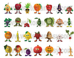 fruits u0026 vegetables happy characters vector www vectorfantasy com