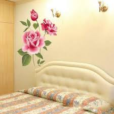 Mario Bros Wall Stickers Pvc 3d Rose Flower Romantic Love Wall Sticker Removable Decal Home