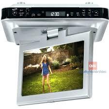under cabinet tv mount swivel under cabinet tv for kitchen flip down for kitchen or under cabinet