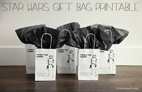 wars gift bags diy easy wars gift bag free printable relocated living