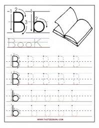 printable letter b tracing worksheets for preschool printable
