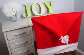 christmas chair covers diy christmas diy santa hat chair covers