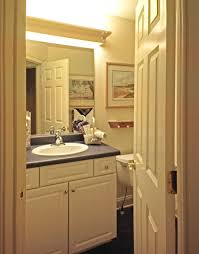 bathroom three tier recessed wall shelves and cute bathroom