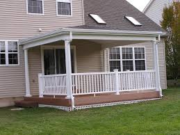 the porch roof could have relatively low pitch porch roof