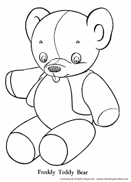 teddy bear coloring pages stuffed teddy bear coloring sheet