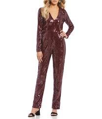sleeve sequin jumpsuit gb sleeve sequin jumpsuit dillards