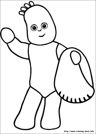 night garden coloring pages coloring book