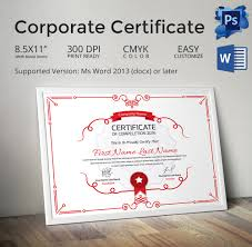 psd certificate templates free format download beautiful corporate certificate template