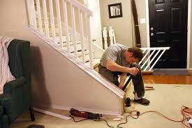 How To Install A Banister Beautiful Budget Stair Remodel From Carpet To Wood Treads