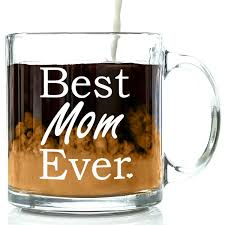 amazon com best mom ever glass coffee mug 13 oz top birthday