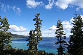 Blue Shades Lake Tahoe Many Shades Of Blue And Green Wide Sea No Anchor