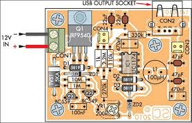 low power car bike usb charger circuit diagram