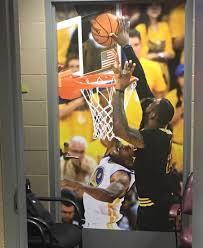 cavaliers hung photo of lebron james u0027 game sealing finals block