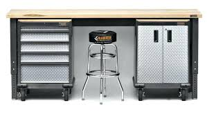storage work bench garage tool storage and workbench for plans how
