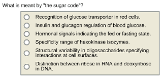 what is meant by the sugar code recognition of chegg