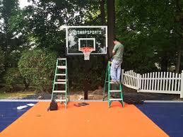 Backyard Basketball Court Ideas by Basketball Courts Construction Company Nassau Suffolk