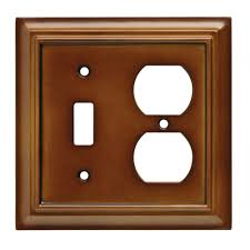 Hampton Bay Architectural Wood Decorative Switch and Duplex Outlet