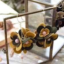 felt earrings e zakkamania stores rakuten global market form three