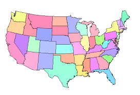 map of us states names xkcd us state names vector map of the usa with state names stock