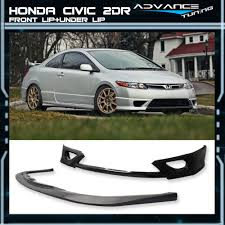 pu front bumper lip spoiler cs style under lip 06 08 honda civic