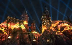 nighttime lights at hogwarts universal orlando close up experience the nighttime lights at
