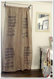 Burlap Drapery How To Make A Coffee Sack Curtain Coffee Sacks Door Curtains