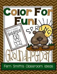 groundhog coloring pages fern smith u0027s classroom ideas tpt