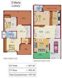 5 marla house plan lamudi