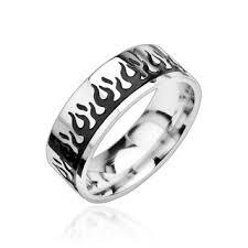 bjs wedding rings amazonde edelstahl ring flammen rockabilly biker schwarz r8019k