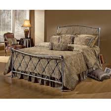Iron Bed Set Hillsdale Silverton Brushed Silver Metal Bed Set Without Frame
