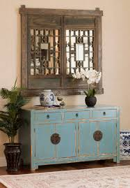 light blue sideboard chinese ming style asian living room