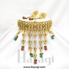 bridal choker necklace images Bridal choker necklace set online kundan stones hayagi jpg