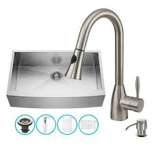 Vigo Stainless Steel Faucet Vigo Vg15139 All In One 36 Farmhouse Stainless Steel Kitchen Sink