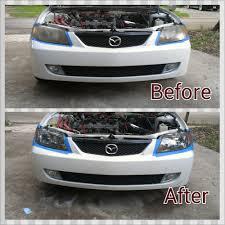 mazda protege 2002 mazda protege headlight restored yelp