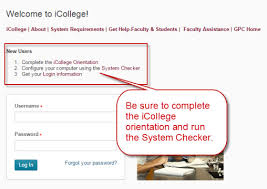 Service Desk Courses Q I Need Help Using Icollege How Do I Find My Classes Get Help