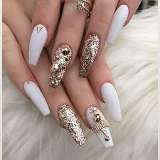 best 25 white coffin nails ideas only on pinterest prom nails