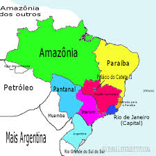 map of brazil maps of brazil according to brazilians national stereotypes