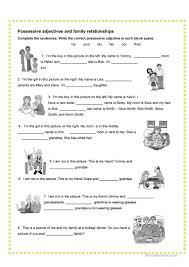26 free esl family relationship worksheets