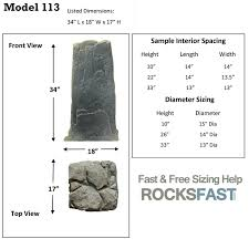 dekorra mock rock model 113 hide tall objects with the 113 fake
